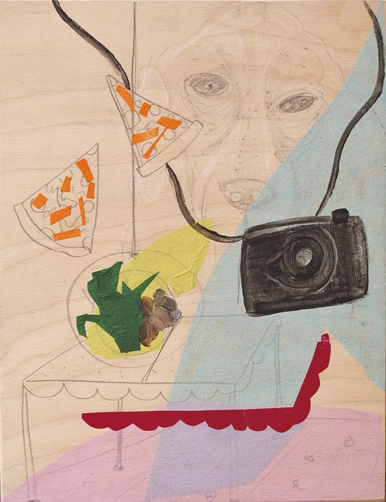 Image of &8211;Camp Kitch— collage, graphite, paint on board